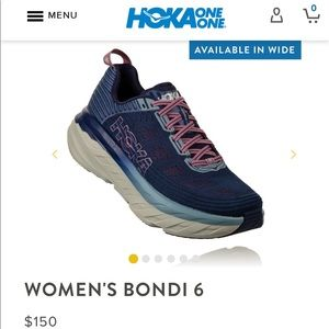 Women's Hoka One One Bondi 6 in EXCELLENT PREOWNED